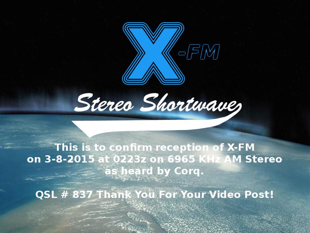 XFM837